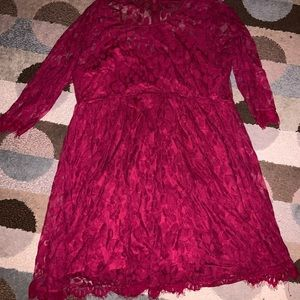 Torrid Plus Size Maroon Lace Dress